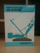 Kobelco Hydraulic Crawler Crane SL4500 Information Book