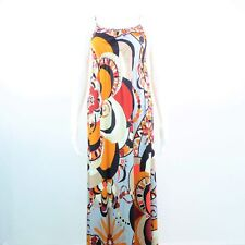 Emilio Pucci Maxi Taille FR 34 it38 Multicolour Femmes silk robe dress robe se