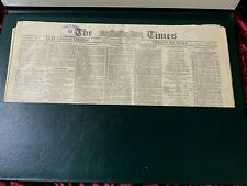 More details for vintage 1923 the times newspaper in pu leather folder