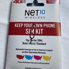 X2 Change Your Att Verizon T-Mobile Phone To Net10 Phone 3/1 Sim Card Kit Pin