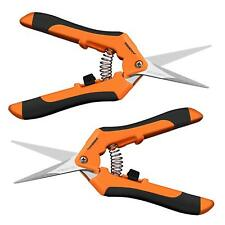 VIVOSUN 2-Pack Precision Hand Pruners Bud Pruning Shears Trimming Scissors Snips