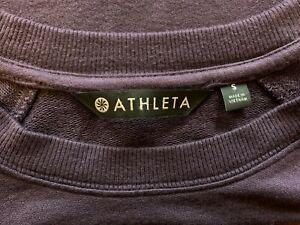 ATHLETA Mindset Sweatshirt Long Sleeve in Dark Purple - Size Small - NTSF