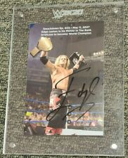 WWE 2K20 Edge Limited Collector's Edition Autographed Plaque Black Ink Auto u1