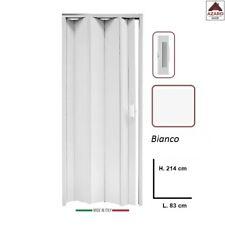 Porta a soffietto su misura in PVC bianca scorrevole riducibile da interno