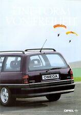 Prospetto/brochure OPEL KADETT CABRIO CARAVAN Omega Caravan 09/1990