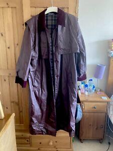 Francis Campbell Mackintosh Rainwear Burgundy Coat Cosplay Vintage Size Medium