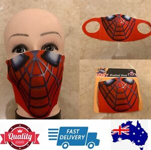 Washable Reusable Fashion Face Masks special, look like Spiderman, AU stock