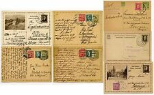 CZECHOSLOVAKIA 1926-34 STATIONERY inc UPRATED...7 CARDS