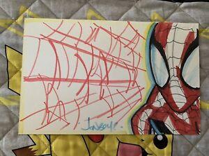 Johnboy meyers Spider-man Original Art Convention sketch