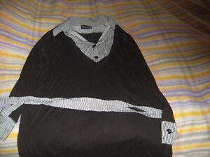 Tunique 2 en 1 PIMENT ROUGE avec ceinture  noir Taille 46/48