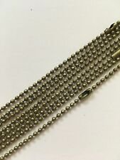 40 x 24 Inch Antique Bronze Ball chain necklace (60 cm)