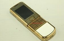 Unlocked Authentic Original Nokia 8800 Gold Arte with White Leather Trim
