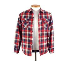 Vintage 80s Flannel Plaid Shirt Quilt Lined Winter Work Top Jacket Womens Size S