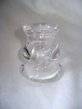 NEW ELEGANT CURVING GLASS CANDLE HOLDER CANDLESTICK STAND