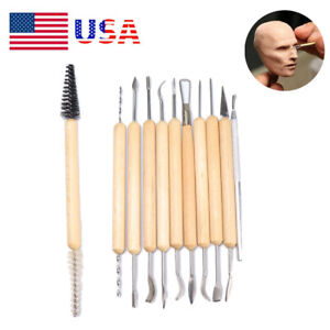 Clay Sculpting Set Wax Carving Pottery Tools Shapers Polymer Modeling Making