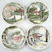 Johnson Bros. Friendly Village Coasters or Butter Pats Made in England Lot of 4