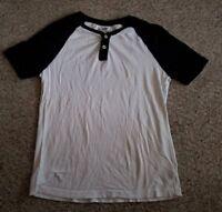 ARIZONA Black and White Short Sleeve Top Mens SMALL