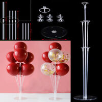 1 Sets Air Balloon Holder Column Stands 7 Pipes Clear Balloon Stick Party New