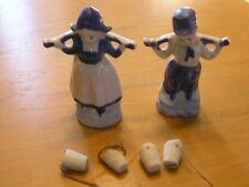 Great Vintage Made In Japan Figurines Dutch Milk Boy Maiden Water Carrier AS IS