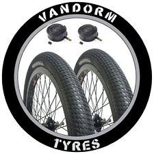 "PAIR 20"" BMX Tyres Vandorm DRIFTER R2R 20"" x 2.00"" Bike Ramp Tyres & Inner Tubes"