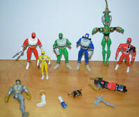 Vintage POWER RANGERS & KO Action Figure Parts Pieces Lot Custom Fodder MMPR