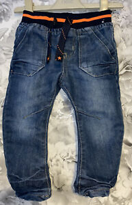 Boys Age 12-18 Months - Soft Waistband Lined Jeans