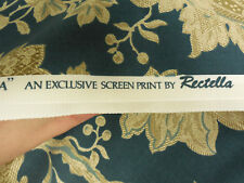 Exclusive Vintage Belgravia Blue Floral Drapery Upholstery Fabric By The Yard