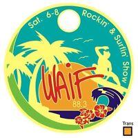 V2 ROCKIN'&SURFIN' surf music show RARE LIMITED EDITION PATHTAG trans Orange