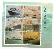 6 GB 2004 Ocean Liners unmounted mint mini / miniature sheet MNH stamps