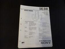 ORIGINALI service manual Sony srs-d2k