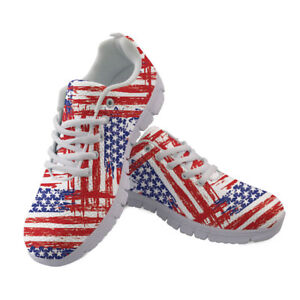 American Flag British Mens Casual Shoes Sneakers Running Gym Trainers Sports Boy