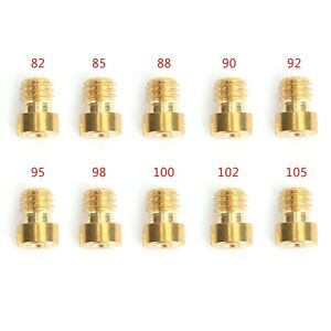 10set Round Head Main Jet 4mm 82-105 For GY6 Motorcycle Scooter Carburetor PZ19