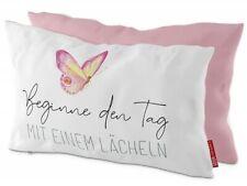 Kissen LOVELY GREETINGS Beginne den Tag.. Schmetterling 25x40cm La Vida