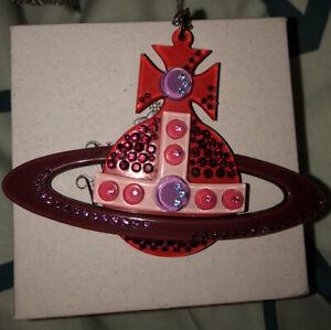 Vivienne Westwood Vintage Perspex Swarovski Red Necklace