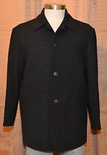IVANO BIAGI Black 100% Wool Blend Italy Vintage Jacket Sport Coat Blazer Mens 40