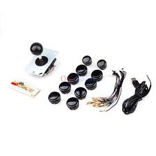 Black Arcade DIY Kit Game Parts USB Encoder To PC Sanwa Joystick + Buttons