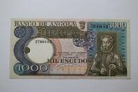 BANKNOTE ANGOLA 1000 ESCUDOS 1973 UNC B20 BK719