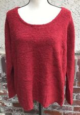 Eileen Fisher Merino Wool Cashmere Pullover Sweater Red Size Large H22