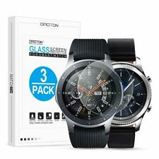 For Samsung Galaxy Smartwatch Screen Protector 46mm 3 Pack HD Tempered Glass 9H