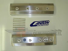 Canton Chevy LT1 LT4 SBC Vette Fabricated Aluminum Valve Covers Fabbed 65-208