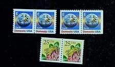 Scott# 2279, 2281 & 2282 - 1988 Regular Issues Set of 3 Pairs MNH