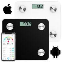 Bathroom Weighing Digital Scales Bluetooth Smart Body Fat BMI Glass
