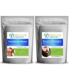 BEARD CARE TABLETS + MALE TESTOSTERONE LIBIDO BOOST - MALE VITAMINS AND MINERALS