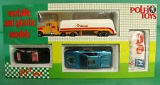 Polfi Metallic and Plastic Cars Set Opel Monza Ferrari 512 Kenworth Truck Shell