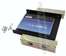 """2.5"""" a 5.25"""" HDD/SSD HARD DISK ADATTATORE in Metallo Kit di montaggio staffa con viti"""