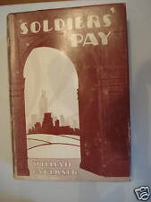 SOLDIERS` PAY by WILLIAM FAULKNER 1954 HBDJ EDITION