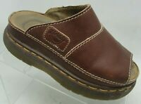 Dr Doc Martens Women's Slip On Sandals Size 5 US Brown Leather