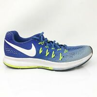 Nike Womens Air Zoom Pegasus 33 831356-404 Blue Running Shoes Lace Up Size US 8