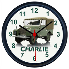 Personalised LAND ROVER SERIES 1 Classic Car Wall Clock