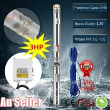 3HP Submersible Bore Water Pump Well Irrigation Stainless Steel 240V 2.25KW OM